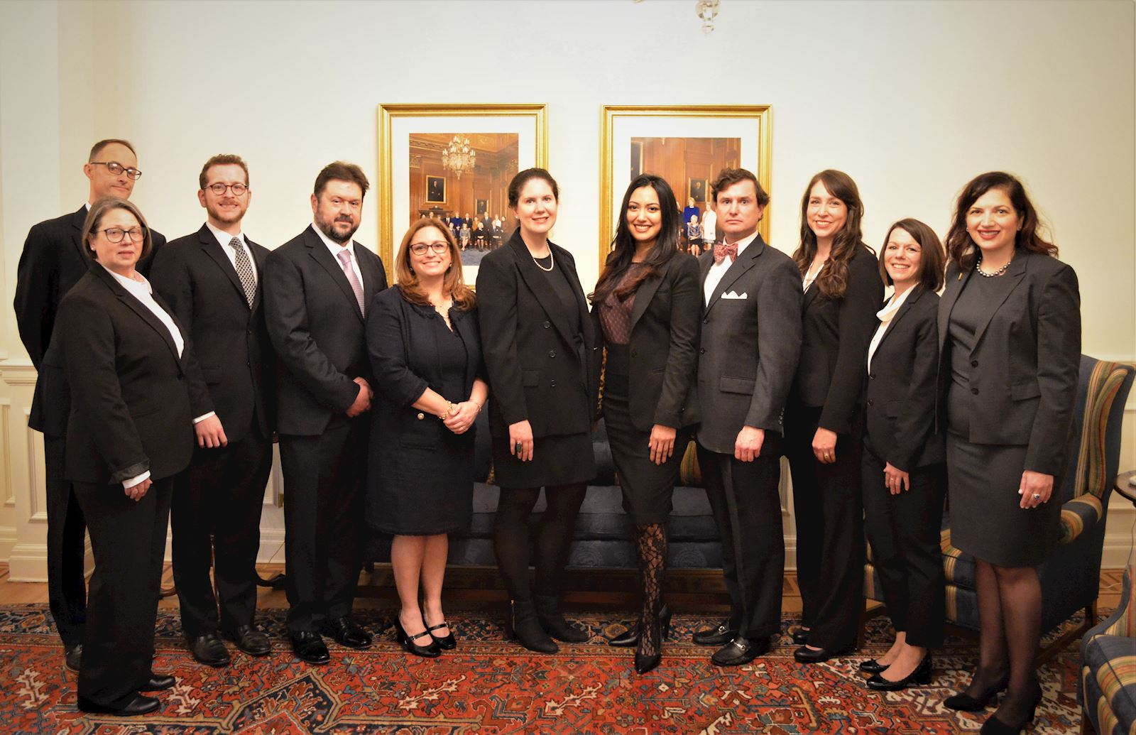 Michael Sabella (third from left) and the rest of the DHHBA members sworn in to the U.S. Supreme Court Bar.